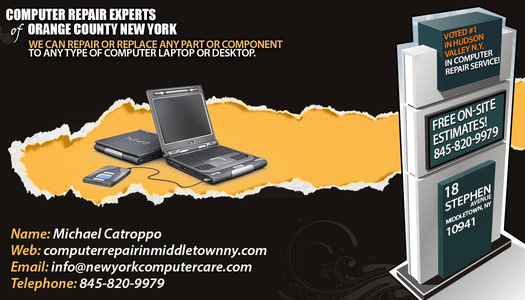 Computer Repair in MIddletown NY, Goshen NY, Monroe NY